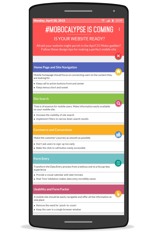 April 21 Google Mobile Friendly Update infographic