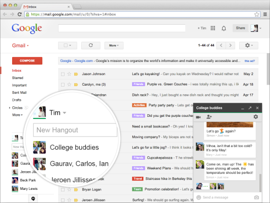 single page application - Gmail by Google