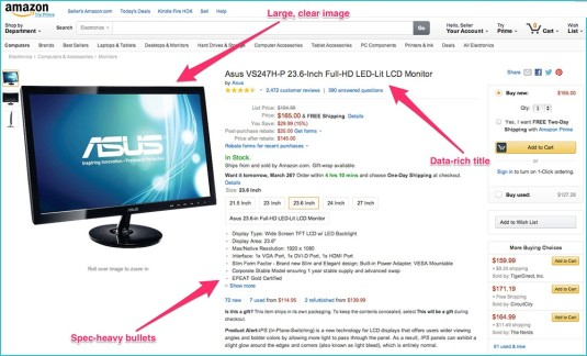 Amazon on page product SEO