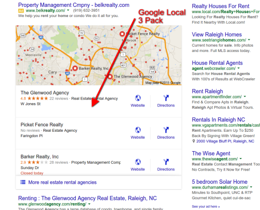 Google Local 3 Pack Stack