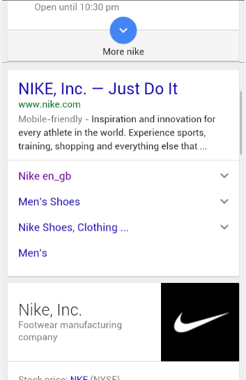 Nike Search Query