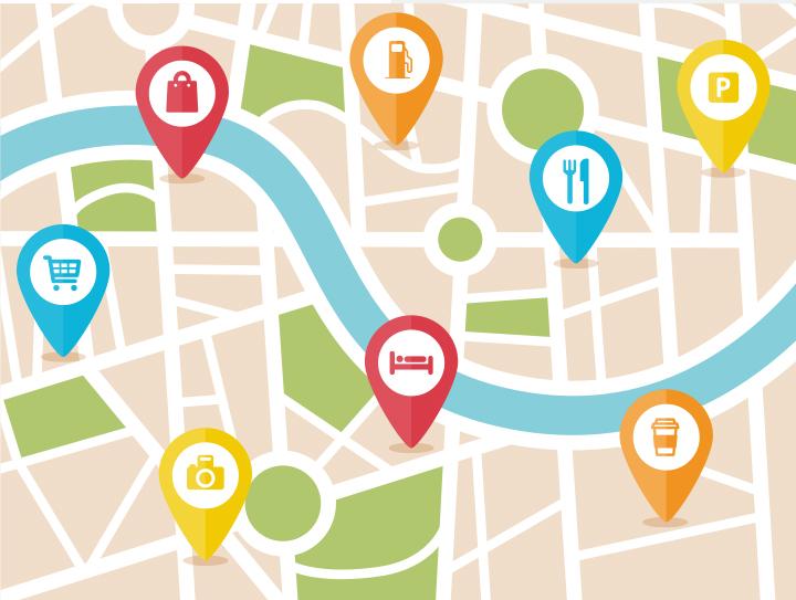 Google local search map