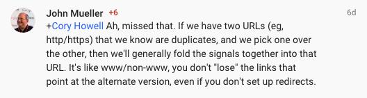 John Mueller's statement on SSL