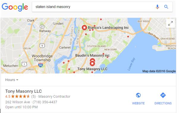 Google local box ranking