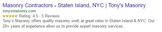 google rich snippet