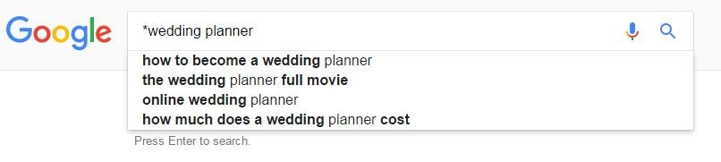 Manipulating auto-complete google search