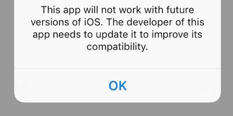 iOS app alert box