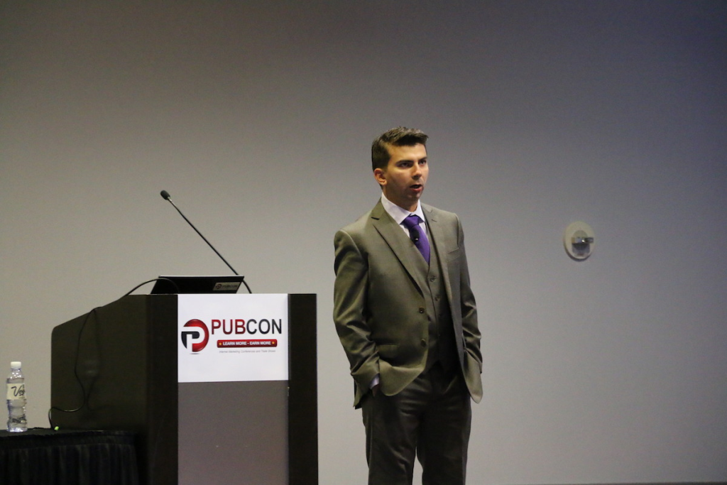 Gary Illyes at Pubcon Keynote