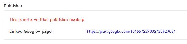 Publisher schema markup error